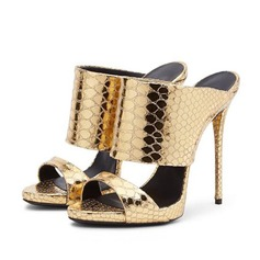 Real Leather Stiletto Heel Sandals Slippers shoes