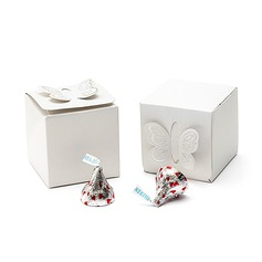 Butterfly Top Cubic Favor Boxes (Set of 25)