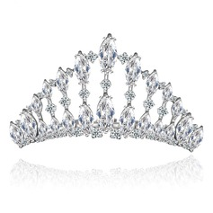 Elegant Copper/Zircon/Platinum Plated Tiaras