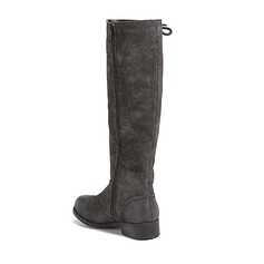 Women's Leatherette Low Heel Boots Mid-Calf Boots With Ribbon Tie shoes