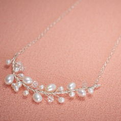 Elegant Alloy/Silver Plated/Freshwater Pearls Ladies' Necklaces