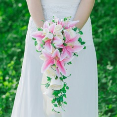 Pretty Cascade Artificial Silk Boutonniere