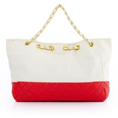 Fashional PU With Metal Top Handle Bags