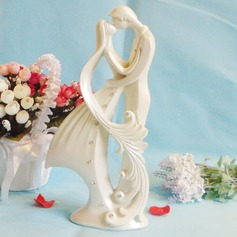 Kissing Couple Resin Wedding Cake Topper
