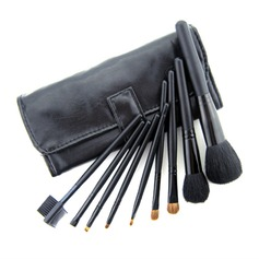 9 Pcs Black Makeup Brush Set