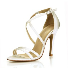 Women's Satin Stiletto Heel Sandals