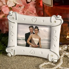 Classic Heart Design Resin Photo Frames With Rhinestone (051090003)