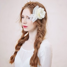 Glamourous Artificial Silk/Feather Combs & Barrettes/Flowers & Feathers