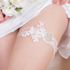 Sexy Lace With Rhinestone Wedding Garters (104076280)