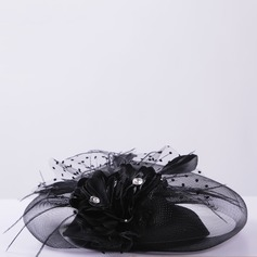 Ladies Elegant Net Yarn/Feather Hats