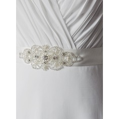 Unique Satin Sash With Rhinestones