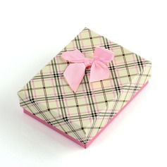 Nice Cardboard With Bow Women's Jewelry Boxes
