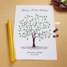 """Our Wedding Tree"" Fingerprint Signature Framed Canvas"