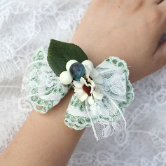 Girly Satin/Lace Wrist Corsage