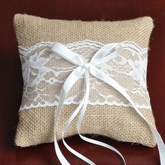 "Simple Ring Pillow in Linen (6""x6"" (15*15cm))"