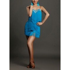 Women's Dancewear Spandex Latin Dance Dresses (115091531)