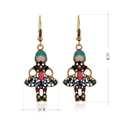 Lovely Alloy Plastic Ladies' Fashion Earrings