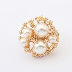 Unique Alloy With Imitation Pearl Ladies' Fashion Rings