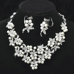 Gorgeous Alloy/Pearl With Rhinestone Women's Jewelry Sets
