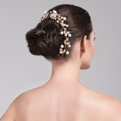 Beautiful Alloy/Imitation Pearls Headbands (Set of 4 pieces)(042074050)