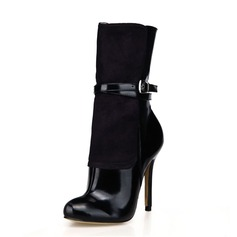 Women's Suede Leatherette Stiletto Heel Ankle Boots shoes