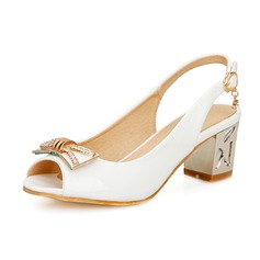 Women's Leatherette Chunky Heel Sandals Slingbacks shoes