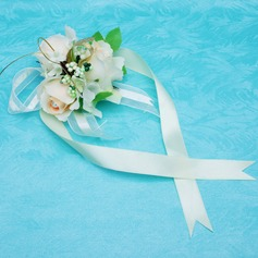 Cute Free-Form Satin Wrist Corsage