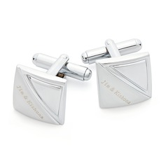 Personalized Pretty Stainless Steel Cufflinks (2 Pieces)