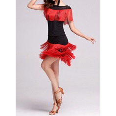Women's Dancewear Polyester Latin Dance Outfits (115087951)
