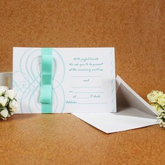 Vintage Style Flat Card Invitation Cards With Bows/Ribbons