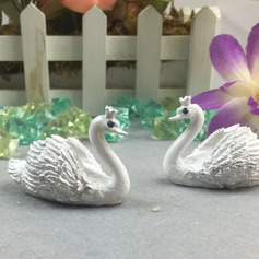 Swan Design Resin Place Card Holders (Sold in a single piece)