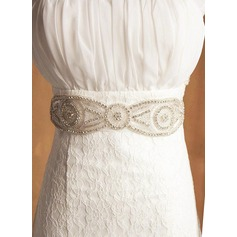 Exquisite Ribbon Sash With Rhinestones