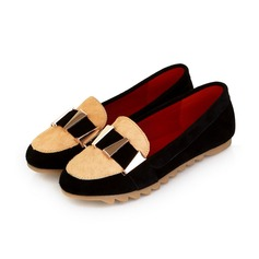 Leatherette Flat Heel Closed Toe Flats (086026217)