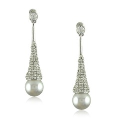 Nice Alloy With Rhinestone/Imitation Pearls Women's Earrings