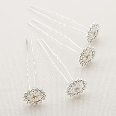 Beautiful Alloy/Austrian Crystal Hairpins(Set of 4)