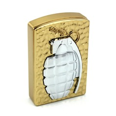 Personalized Gold Stainless Steel Electronic Lighter