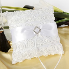 Rose Ring Pillow With Sash