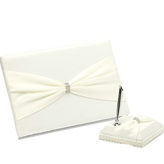 Pretty Rhinestones Guestbook & Pen Set