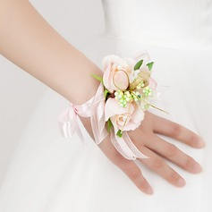 Simple Free-Form Satin Wrist Corsage