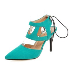 Women's Suede Stiletto Heel Closed Toe Slingbacks shoes (085084232)