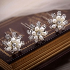 Beautiful Rhinestone/Alloy/Imitation Pearls Hairpins (Set of 3)