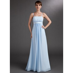 Empire Floor-Length Chiffon Chiffon Maternity Bridesmaid Dress With Ruffle