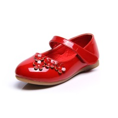 Girl's Leatherette Flat Heel Closed Toe Flats