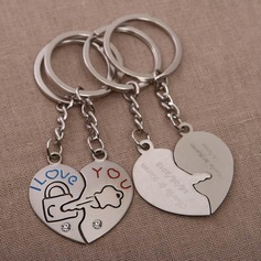 "Personalized ""Key To Your Heart"" Chrome Keychains"