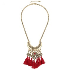 Vintage Rhinestones Iron Zinc Alloy With Tassels Ladies' Fashion Necklace