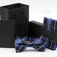 Grid Polyester Bow Tie & Pocket Square