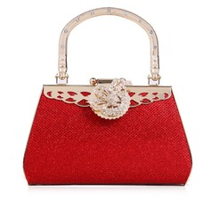 Charming Faux Leather/Metal With Rhinestone Wristlets/Fashion Handbags