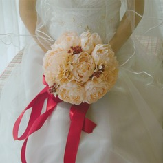 Elegant Round Satin/Artificial Silk Bridal Bouquets - (123116166)