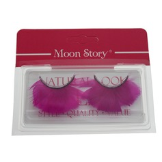 1 Pair Fuchsia Feather False Eyelashes CFE413