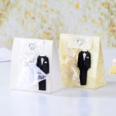 Bride & Groom Handbag shaped Favor Boxes With Ribbons (Set of 12)